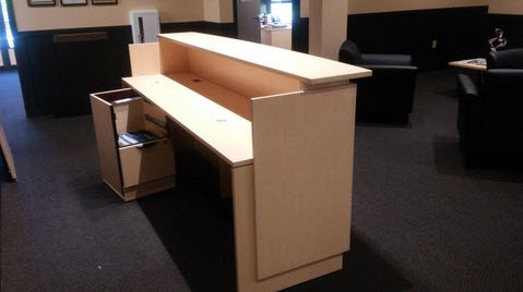 8 foot Maple Reception Desk & BBF