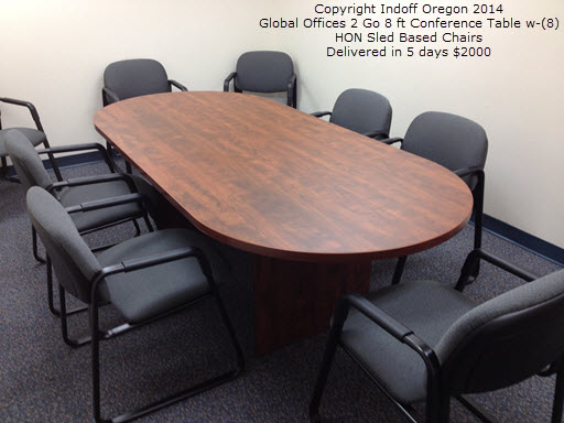 Indoff Oregon Conference Room Furniture And Chairs - 8 ft conference table