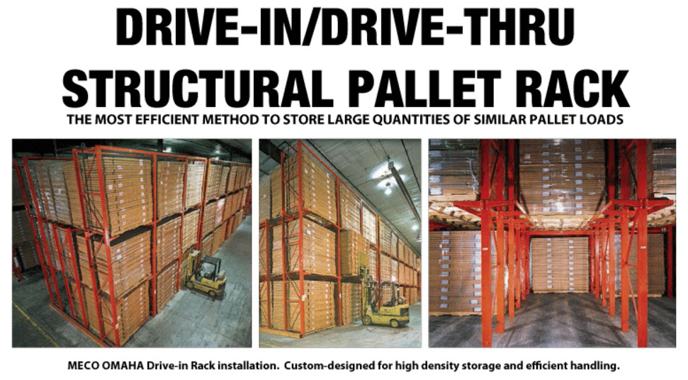 drive-in structural pallet rack