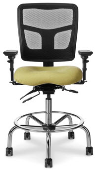Mesh Back with Optional Memory Foam Seat Ergonomic Counter Height Chair