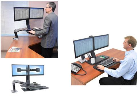 R0013-  Desktop Mounted Sit-to-Stand Stations