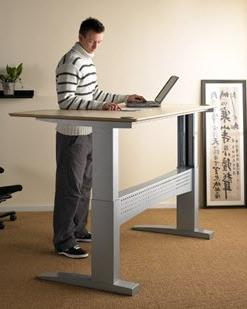 Two Column Electric or Crank Height Adjustable Desks