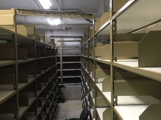 (49) 48w x 96h x 15d Steel Adjustable Shelves, 480 sf capacity each